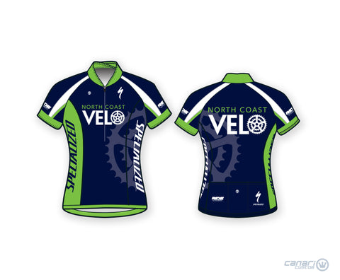North Coast Velo Bellissima Short Sleeve Plus Jersey Blue