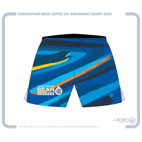Christopher Bean Coffee Co. M Endurance Run Short Brush