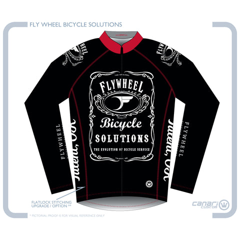 FLYWHEEL MEN Euro LS Winter Jersey TT Black