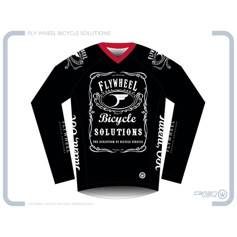 FLYWHEEL WMN Enduro LS Jersey Black