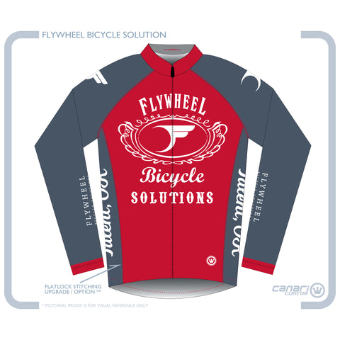 FLYWHEEL WMN Euro LS Jersey D Red