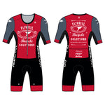 FLYWHEEL WMN Aero SS Skin Suit-Queen Red