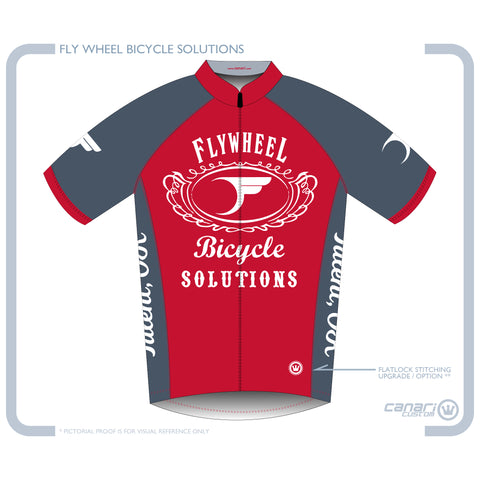 FLYWHEEL MEN Euro SS Jersey D Red