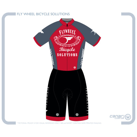 FLYWHEEL WMN Vortex SS CB Suit Queen Red
