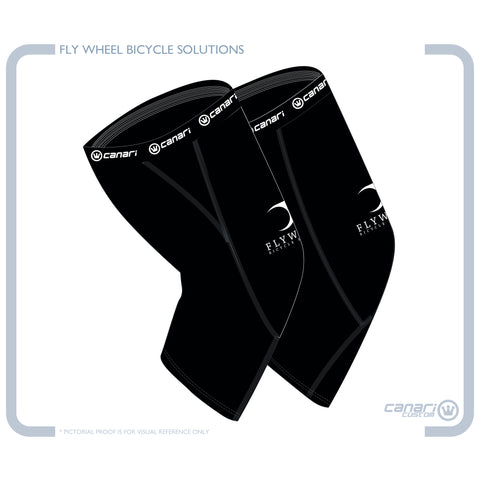 FLYWHEEL UNISEX Knee Warmers Black