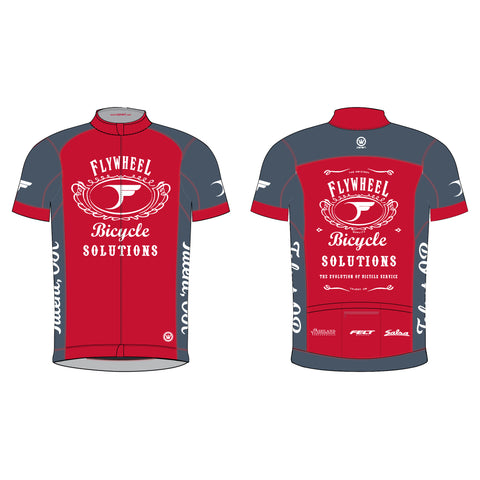 FLYWHEEL MEN Pinnacle SS Jersey Red