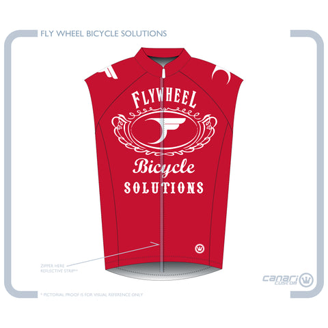 FLYWHEEL WMN Raceday Wind Vest Red