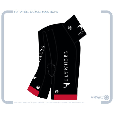 FLYWHEEL MEN Vortex CB Bib Short Monarch Black