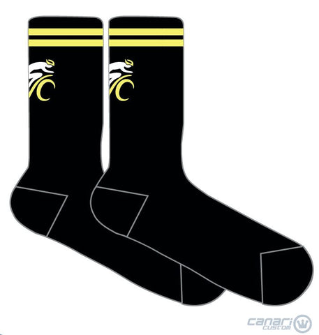 Green Valley Cyclist WMN Socks Black Unmellow Yellow