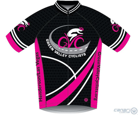 Green Valley Cyclist WMN Vortex SS Jersey Hot Magenta