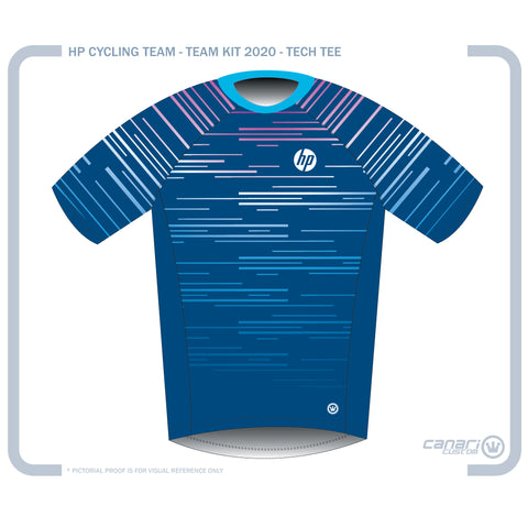HP CYCLING TEAM M Technical Sport Tee Blue