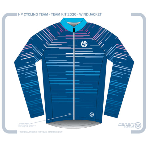 HP CYCLING TEAM Unisex Wind Jacket Blue