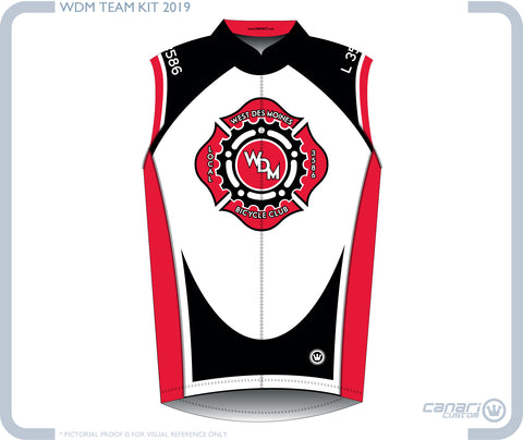 Local 3586 Bicycle Club W Club Sleeveless Jersey Black White Red