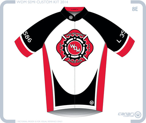 Local 3586 Bicycle Club W Club SS Jersey Black White Red