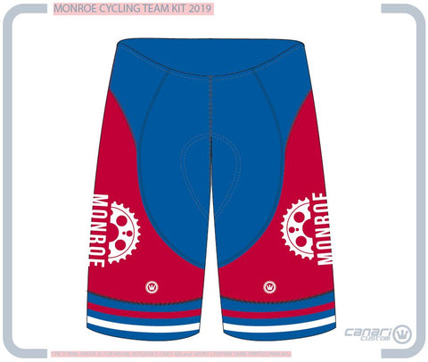 Monroe Cycling Club W XRT Gravity Short Queen RED WHITE BLUE