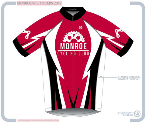 Monroe Cycling Club M Euro SS Jersey RED