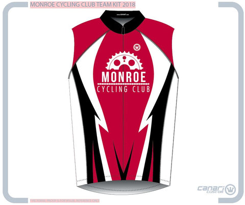 Monroe Cycling Club M Euro Slvls Jersey RED