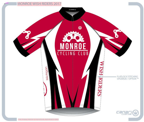 Monroe Cycling Club W Euro SS Jersey MAKE A WISH