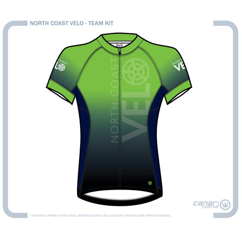 North Coast Velo Divine Short Sleeve Jersey Ombre Green