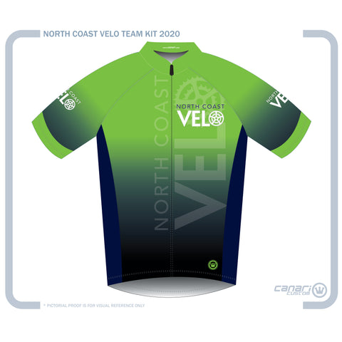North Coast Velo M Club SS Jersey D Ombre Green