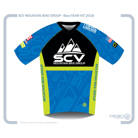 SCV Mountain Bike  M Enduro SS Jersey Blue
