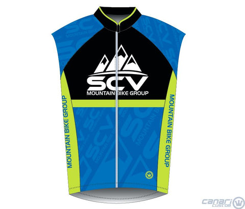 SCV Mountain Bike  W Raceday Wind Vest Blue