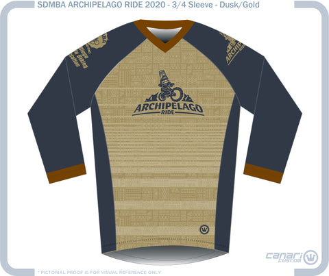 SDMBA M Enduro 3/4 Sleeve Jersey ARCH-GOLD