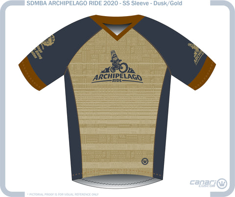 SDMBA M Enduro SS Jersey ARCH-GOLD