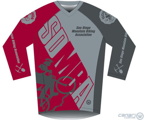 SDMBALIMITED M Enduro 3/4 Sleeve Jersey - Redlimited