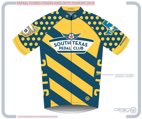 South Texas Pedal Club W Euro SS Jersey D Stripes And Dots