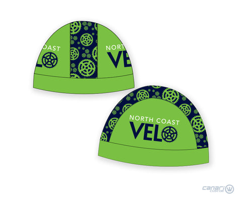 North Coast Velo Unisex Summer Skull Cap Green