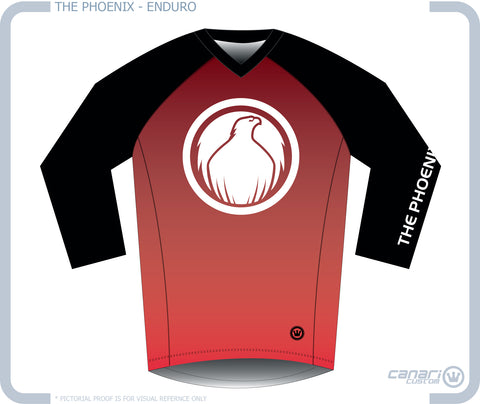 The PHOENIX M Enduro 3/4 Sleeve Jersey MTB
