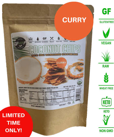 ORGANIC COCONUT CHIPS: CURRY