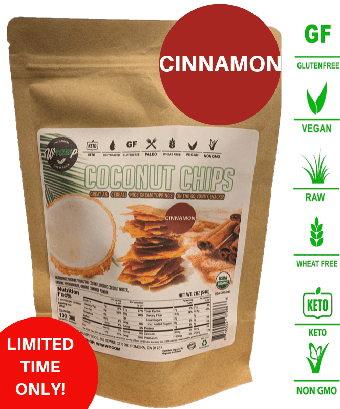 ORGANIC COCONUT CHIPS: CINNAMON