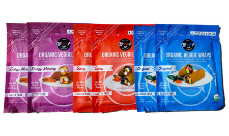 BUNDLE 10% saving! - Mini Veggie Wrap 6 Pack: 2 Original, 2 Spicy & 2 Energy Morning
