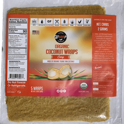 Organic Coconut Wraps - Curry