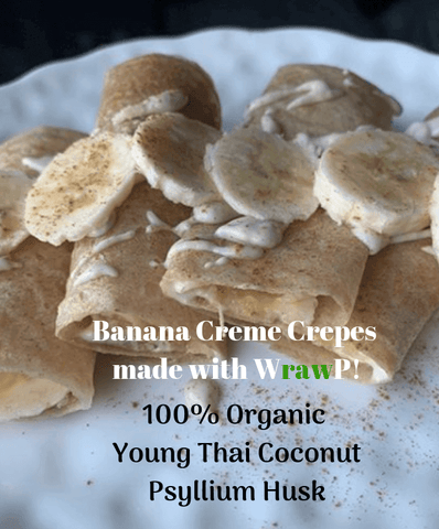 Coconut wraps with banana