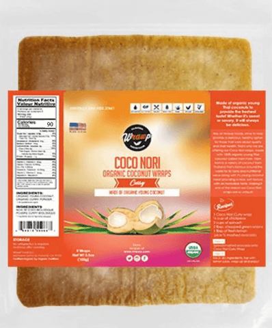 Organic Curry Coconut Wraps - Wholesale