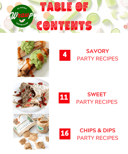 "Wrawp ""Party Favorites"" Recipe Book: Fall/Winter 2019-2020 Edition"