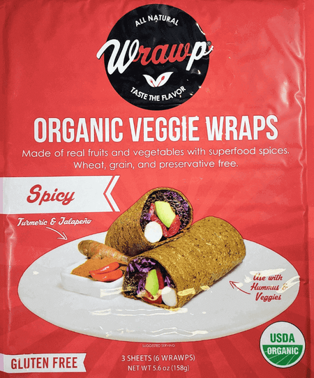 25% Saving! - IMPERFECT Veggie Wraps: Spicy (12 sheets)