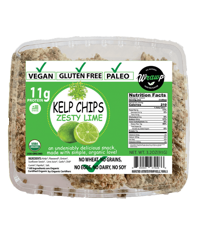 KELP SEAWEED CHIPS: ZESTY LIME - Wholesale