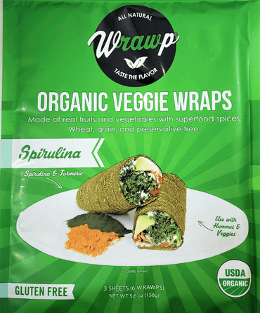 45% Saving! - IMPERFECT Veggie Wraps: Spirulina (12 sheets)