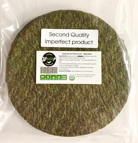 60% Savings! - IMPERFECT  Pizza Crust: Spirulina