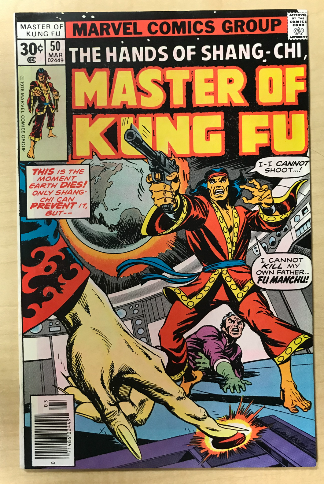 Master of Kung Fu (vol. 1) #50 Dave Cockrum Cover Marvel March 1977 VF Shang-Chi Fu Manchu