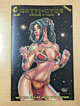 Load image into Gallery viewer, Notti & Nyce Preview May The 4th Be With You Slave Leia Variant by Mike Debalfo