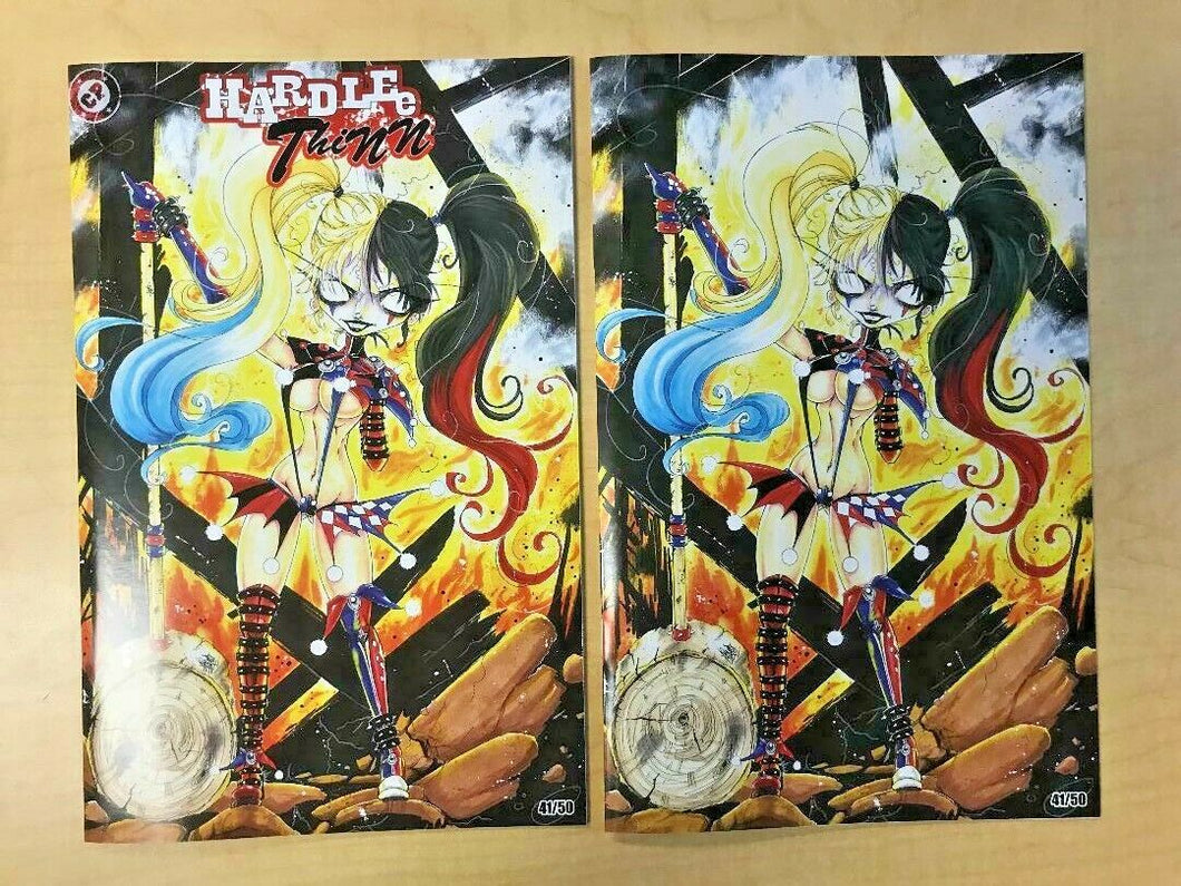 Hardlee Thinn #1 BooKooComix Exclusive LOGO & VIRGIN Variant Cover Set by YoYo