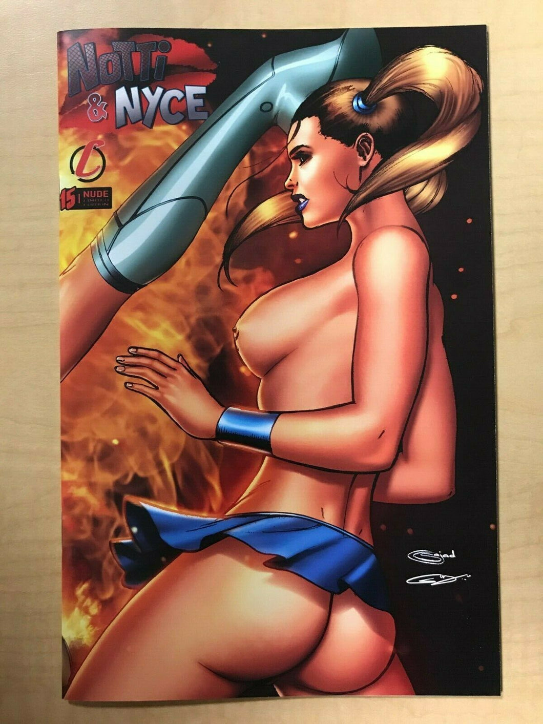 Notti & Nyce #15 C NAUGHTY TOPLESS Variant Cover by Sajad Shah Counterpoint
