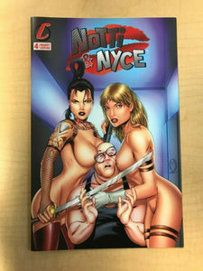 Notti & Nyce #4 NAUGHTY TOPLESS Variant Cover by Marat Mychaels Counterpoint