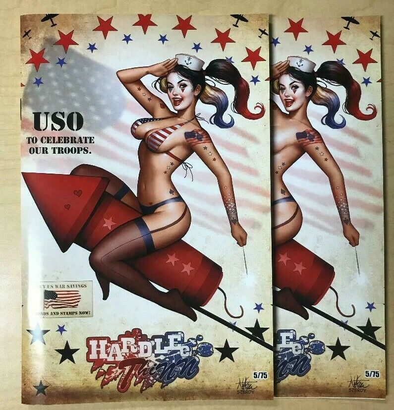 Hardlee Thinn #1 4th of July Naughty & Nice Variant Cover Set by Nate Szerdy /75