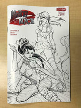 Load image into Gallery viewer, Notti & Nyce #1 NICE SKETCH Variant Cover by MIKE DEBALFO Contraband Comics